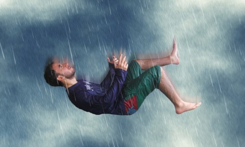 man falling cc license image